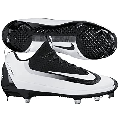 release date 26864 fdc8c Nike Men s Air Huarache 2KFilth Elite Low Metal Cleats, Black White, ...