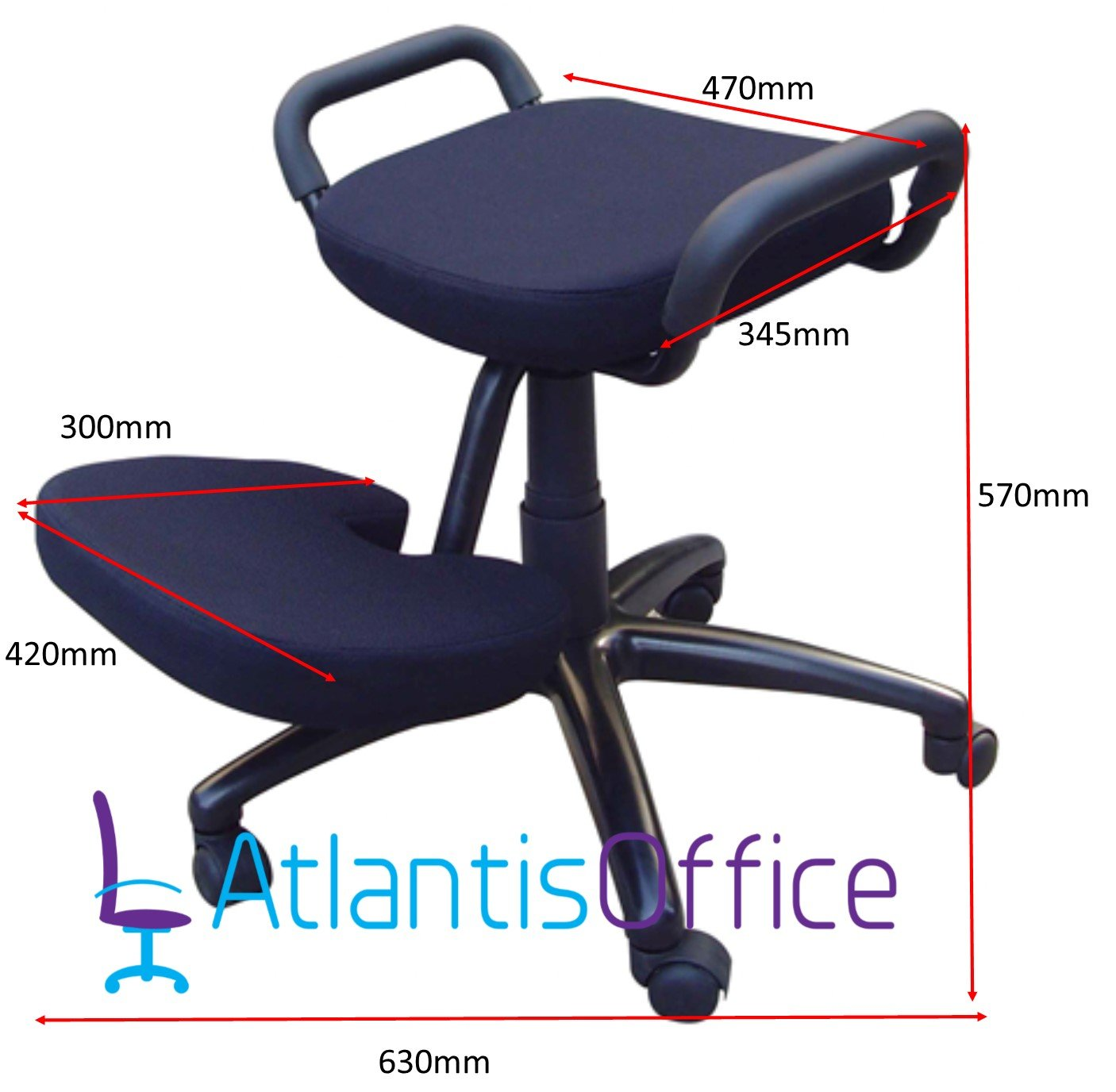 Solace Kneeling Chair Ergonomic Chair Designed to Help Relieve