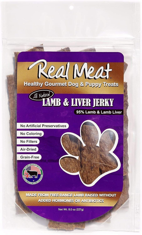 The Real Meat Company 8oz Dog Treats, Lamb & Liver