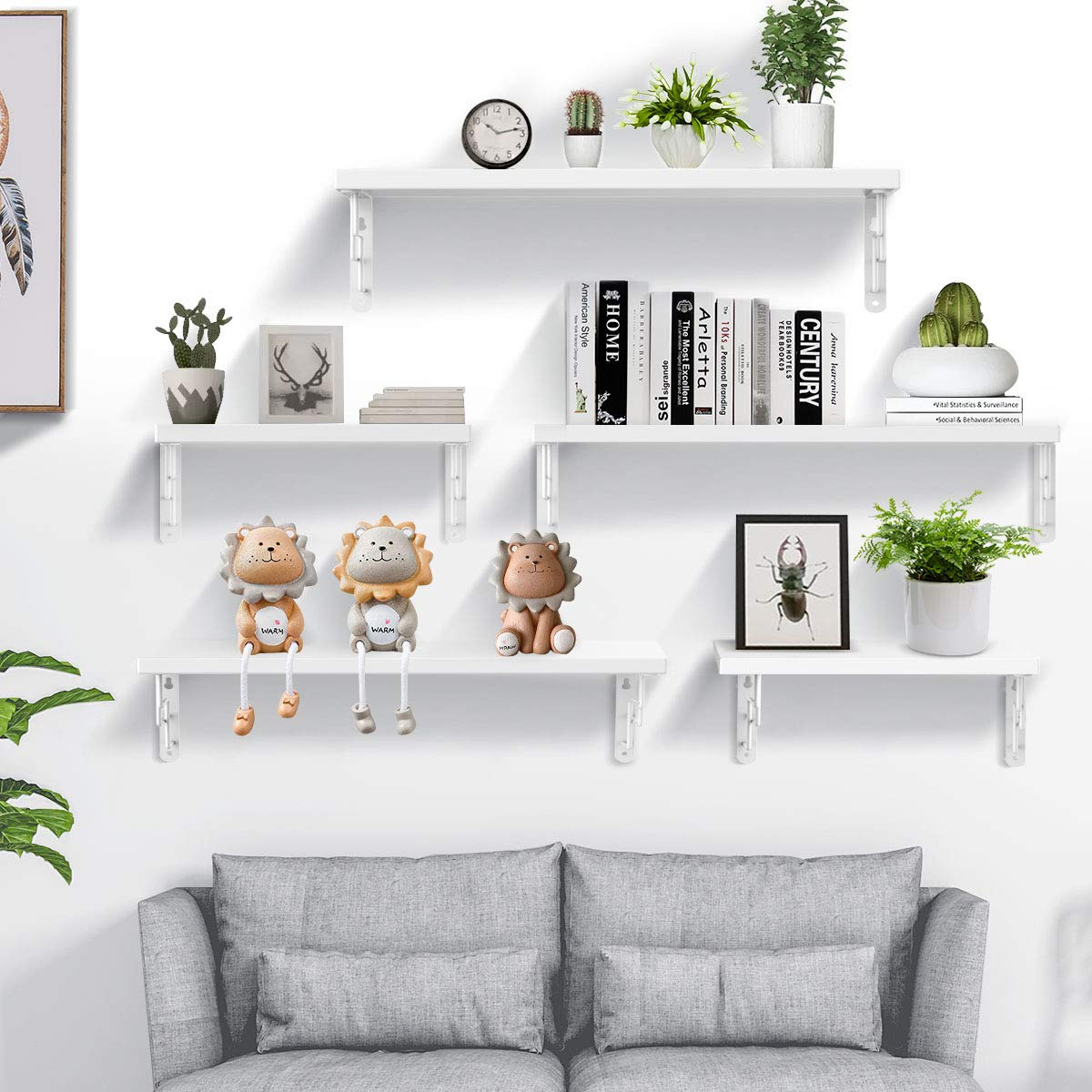 Amazon.com: SIWUTIAO Floating Shelves Wall Mounted for ...