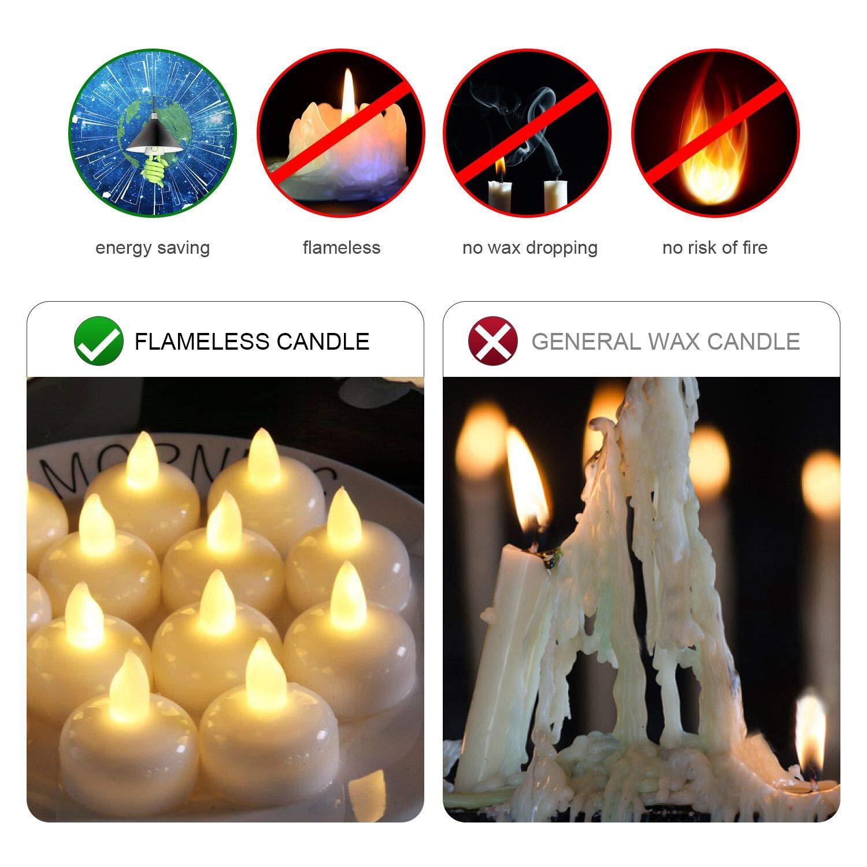 flintronic 24 Lumini Candele LED Bianco Caldo Candele Senza Fiamma con Batterie Adatte per Decorazione di Casa Camera Natale Pasqua Festa Di Matrimonio