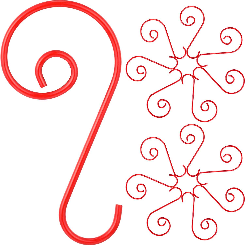 Jetec 150 Pezzi Natale Ornamento Ganci Albero di Natale Gancio a Forma S Decorazione Supporto per Natale Decorazione (Verde)