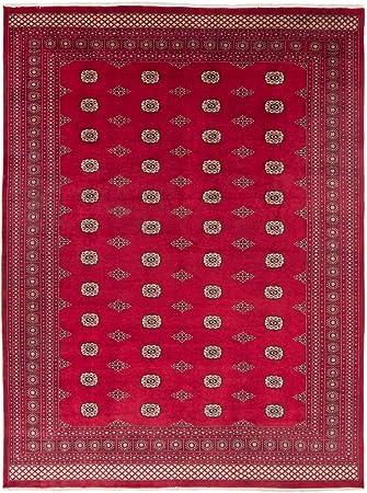 Carpetfine Pakistan Buchara 2ply Teppich 276x367 Rot Handgeknupft