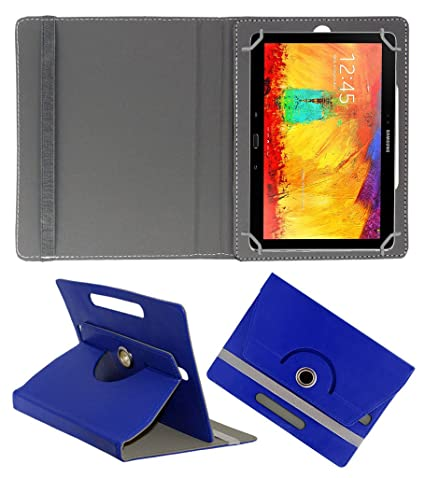 Acm Rotating 360 Leather Flip Case Compatible with Samsung Galaxy Note 10.1 P6010 Tablet Cover Stand Dark Blue Tablet Bags, Cases   Sleeves