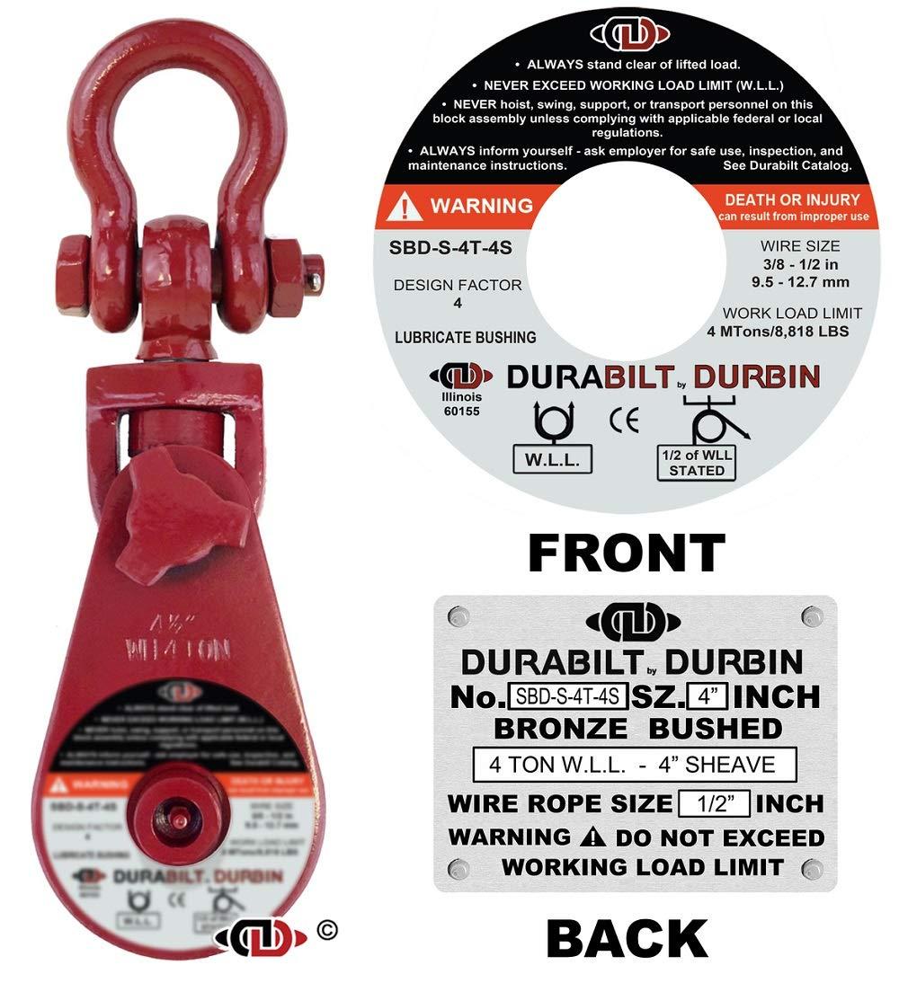 Durabilt Snatch Blocks 4 Ton with Swivel Shackle by Durabilt