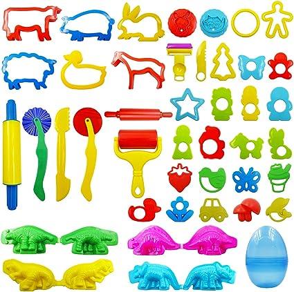 Juego de 12 piezas de arcilla para modelar de masa niños juego de herramientas de juguete 12 Color Diversión 5 paquetes