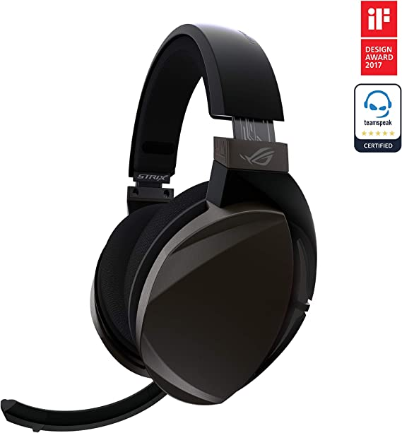 ASUS ROG Strix Fusion Wireless Gaming Headset for PC and Playstation 4 (PS4) with Dual Channel 2.4GHz Wireless Mini Dongle