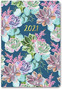 On-Time Weekly Planner 2020-2021 in Succulent Garden by Orange Circle Studio - 6