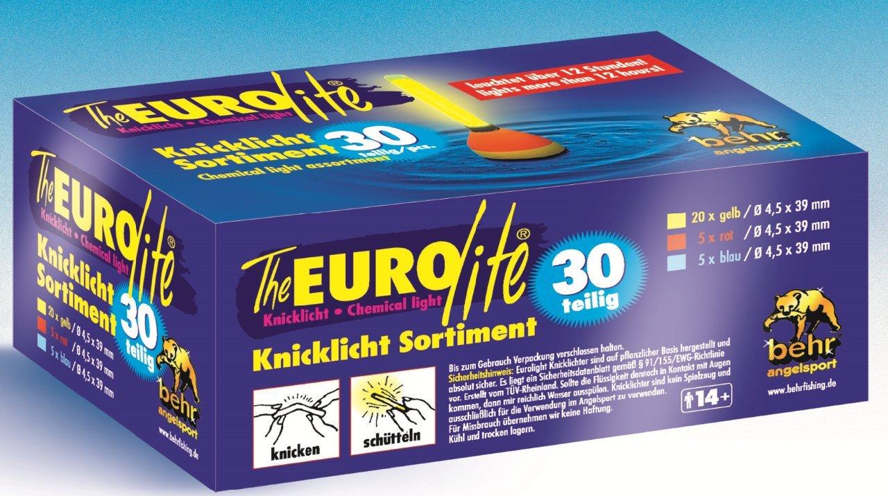 Behr Angeln Accessoires Knicklicht Sortiment Box 30 St/ück 60082