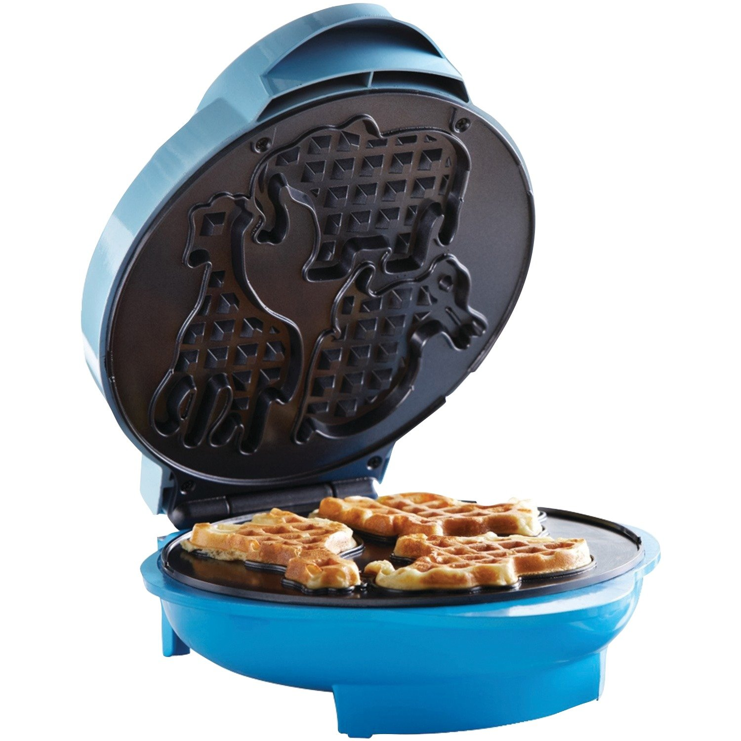 Brentwood TS-253 Appliances Electric Food Maker-Animal-Shapes Waffle Maker, Blue by Brentwood (Image #2)