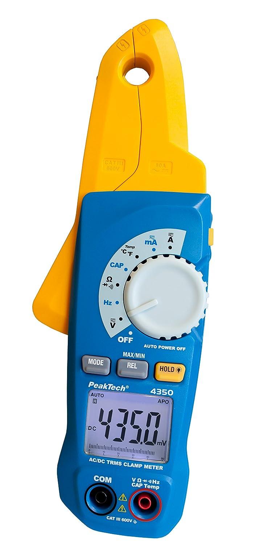 PeakTech corriente/kriechstrom Alicate, 80 A AC/DC con 1 mA Resolución y - Multímetro digital, 1 pieza, P 4350: Amazon.es: Industria, empresas y ciencia