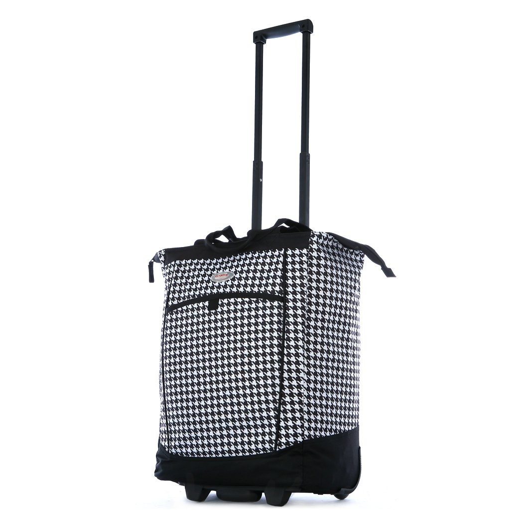 Olympia Fashion Rolling Shopper Tote - Houndstooth, 2300 cu. in. by Olympia