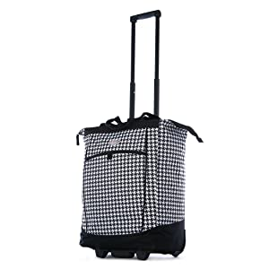 Olympia Fashion Rolling Shopper Tote - Houndstooth, 2300 cu. in.
