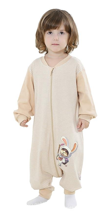 chils uessy – Saco de dormir para bebé Verano Manga Larga Niño Niña Unisex ganzjahres Pijama
