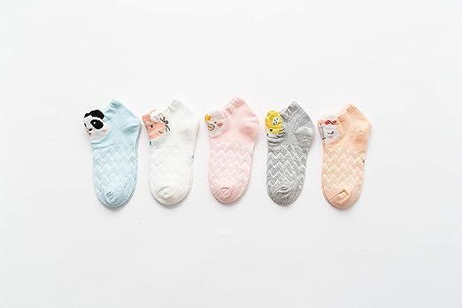 Zzh Calcetines para niños Calcetines de algodón Zapatillas de Deporte Niña pequeña Dibujos Animados Calcetines de Animales Lindos Deportes Casual Escuelas Calcetines de Running 5 Pares,41,XL: Amazon.es: Jardín