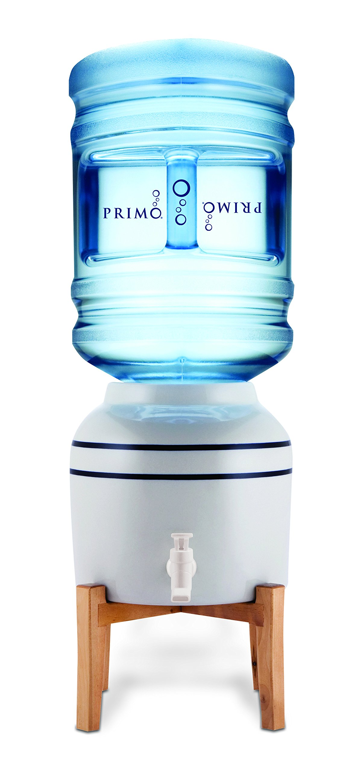 Primo Top Loading Countertop Water Dispenser - Room Temperature - Countertop Ceramic Water Dispenser Supports 3 or 5 Gallon Water Jugs by Primo