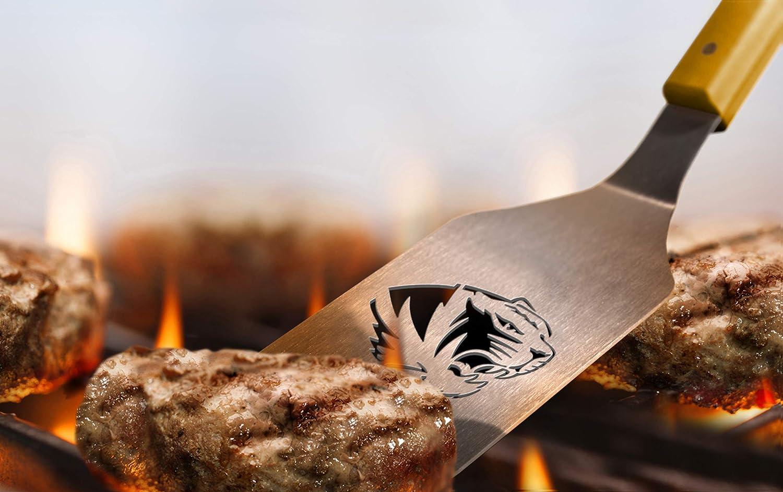 YouTheFan 9028611 NCAA Missouri Tigers Spirit Series 3-Piece BBQ Set 22 x 9 Stainless Steel
