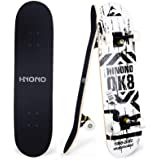 """Toyerbee Skateboards with A Repair Kit, 31"""" x 8"""" Complete Skateboard for Kids & Adults, 9 Layer Canadian Maple Double Kick Sk"""