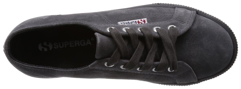 Superga Damen Schwarz 2790-suew Sneaker, Schwarz Damen (Grau Stone F28) a2d5de