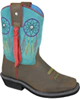 """Smoky Mountain Women's Torrance Leather 7"""" Fringe Western Boots, Brown"""
