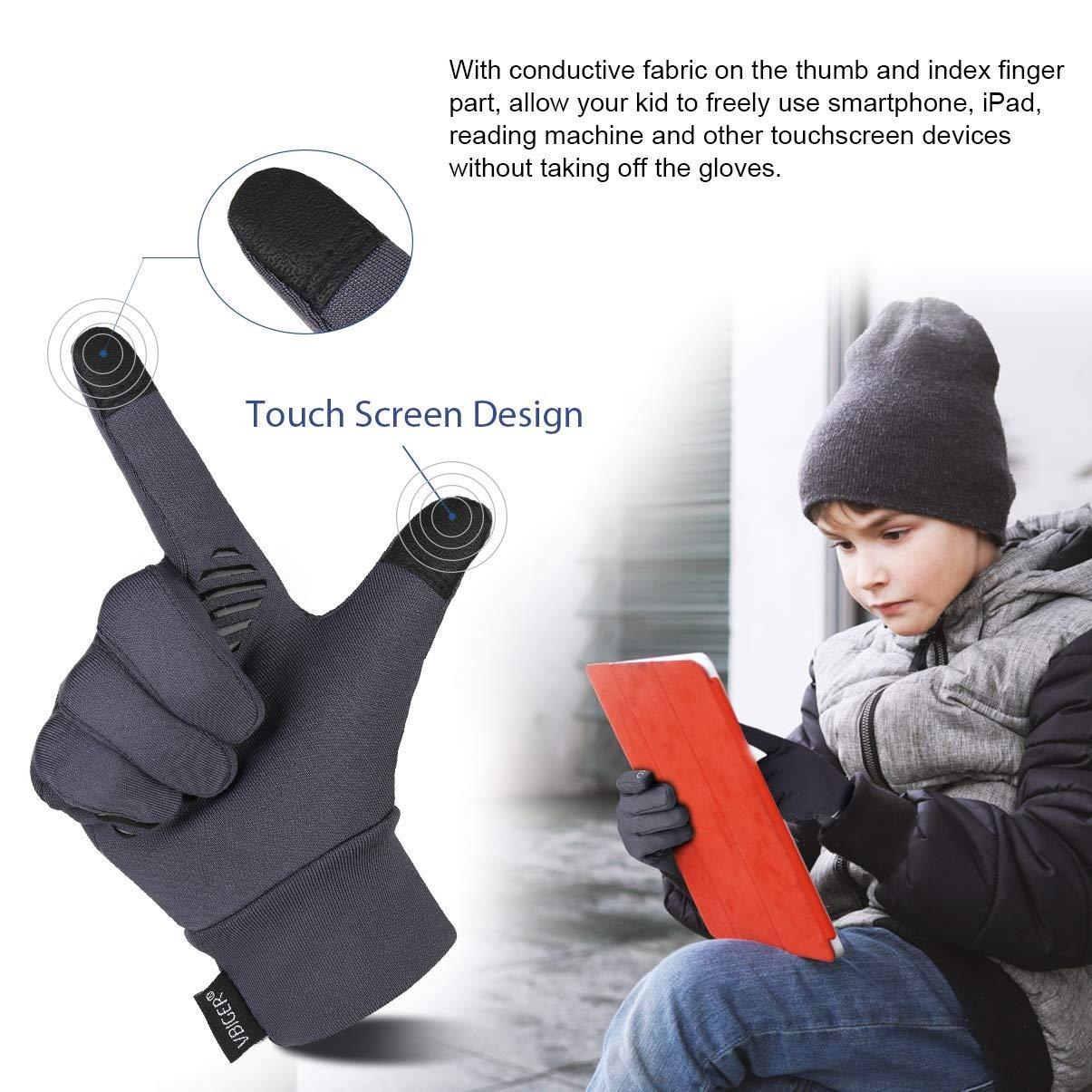 VBIGER Enfant Gant Hiver Chaud Sport Anti-d/érapant avec Fonction /écran tactile