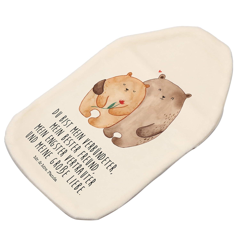 Panda W/ärmekissen Mr /& Mrs Menstruationsbeschwerden Farbe Wei/ß W/ärmflasche B/ären Liebe mit Spruch