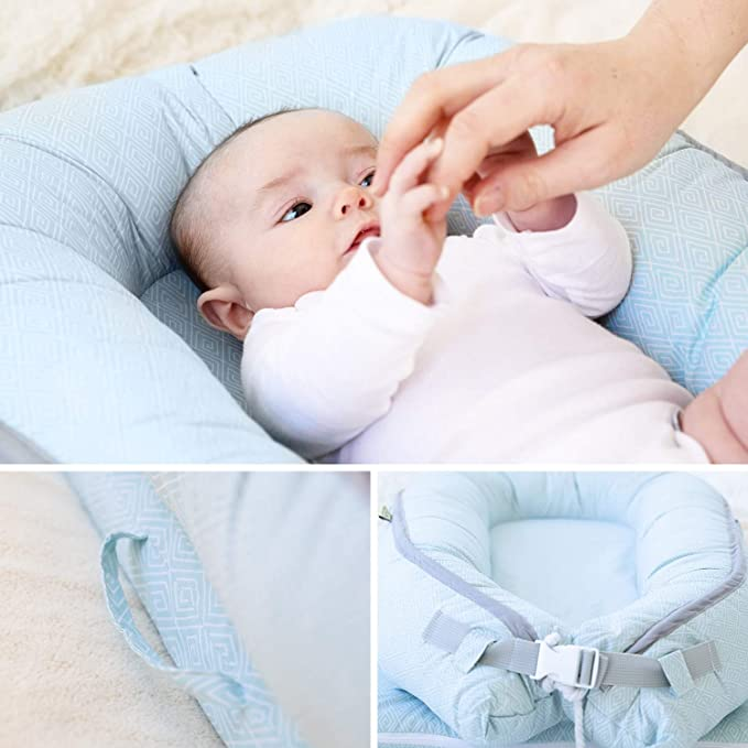 for Infants /& Toddlers 0-12 Month for Girls and Boys | Baby Nest Pink Organic Newborn Lounger