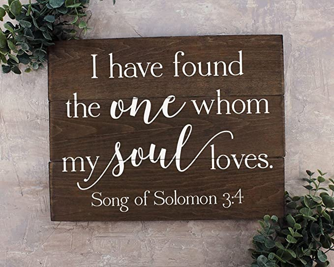 Amazoncom I Have Found The One Whom Sign Song Of Solomon 34 I