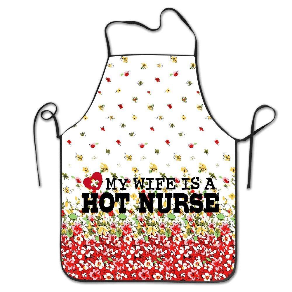 MY WIFE IS A HOT NURSE 柔らかく暖かい女性 キッチン レストラン ビブエプロン   B07CZCZZZY