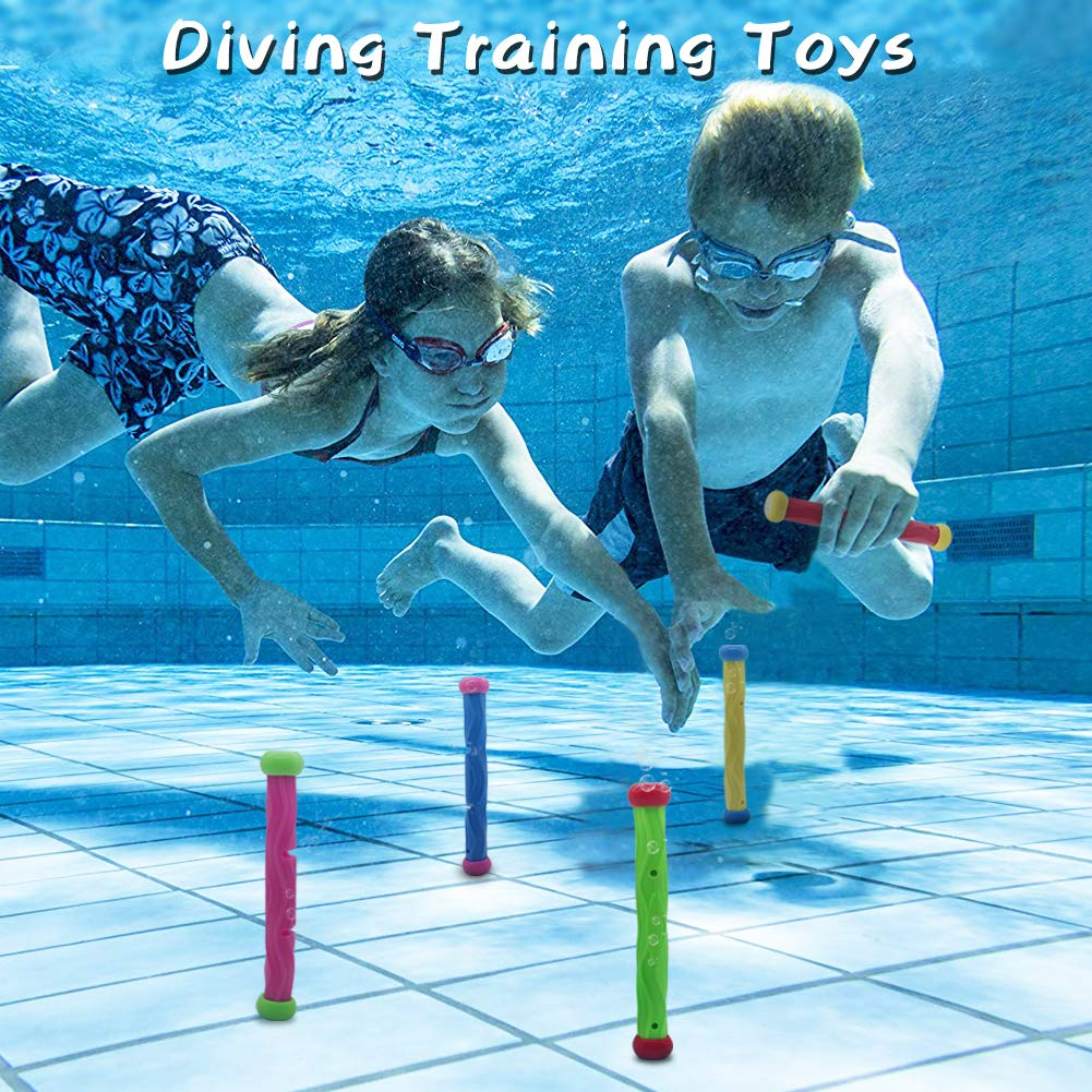 Tydow Swimming Pool Diving Sticks Toys Paddling Pool Water Beach Games For Age 5+