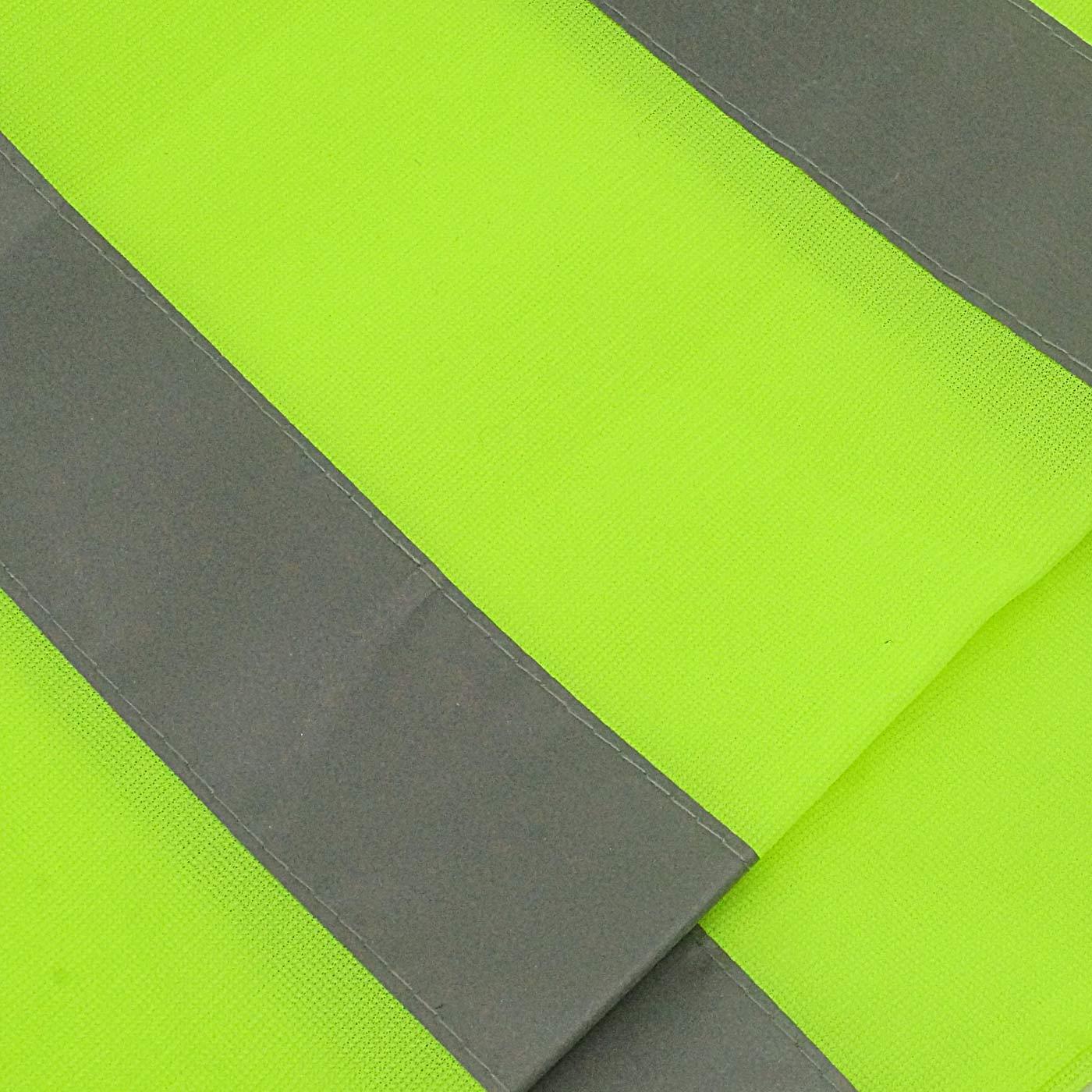 AIEOE 10 St/ück Erwachsener Reflektorweste Warnweste Klettverschluss Sicherheitsweste f/ür Fabrik Joggen Bauen Radfahren