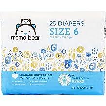 Amazon Brand - Mama Bear Diapers Size 6, 25 Count, Bears Print