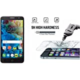 M.G.R.J TCL 560 Tempered Glass Screen Protector with 0.3mm Ultra Slim 9H Harness, 2.5D Round Edge, Crystal Clear & Alcohol Prep pad
