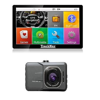 Camión nuevo navegador 17,78 cm + + leva tablero 8GB tarjeta ...