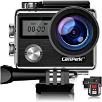 Campark X20 4K Action Camera Touch Screen 20MP Sony Image Sensor,Waterproof Sports Camera, WiFi, Dual LCD, Remote…