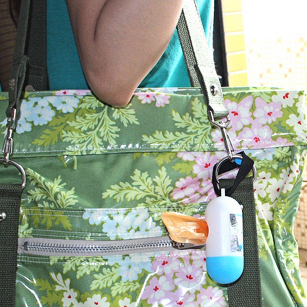 Kangkang@ Portable Plastic Hanging Baby Diaper Garbage Rubbish Bag Refillable Box Case Organizer with 20 PCS Disposable Bags Inside