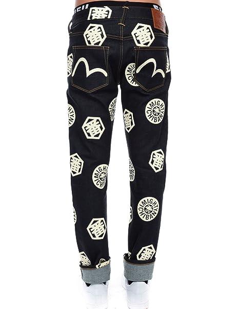 d0fe68535602 Evisu 2023 Stretch Skinny Fit Ecru Multi Ichiban Selvedge Denim Jeans