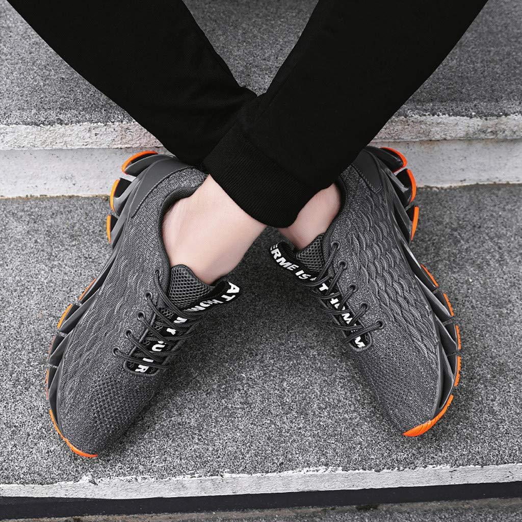 Hombre Zapatillas Deporte Realde Zapatillas Deportivas Ligeras con Estilo de Malla Calzados Atl/éticos Elegantes Se Deslizan en Los Zapatos Deportivos Transpirables con Alto El/ástico para Correr