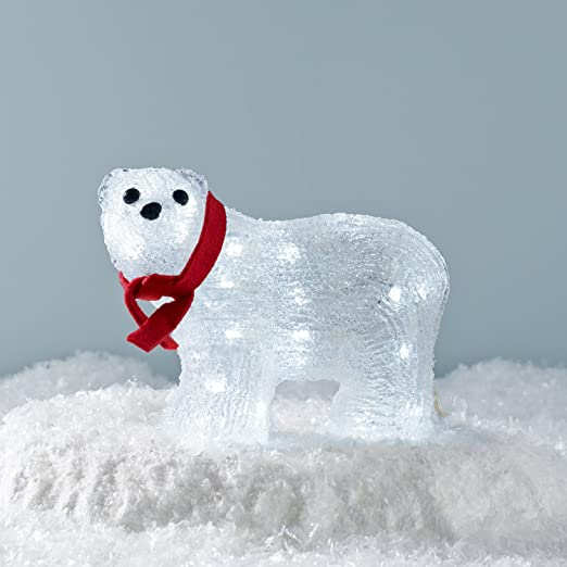 Light Up Polar Bear LED Christmas Figure with Red Bow for Indoor Outdoor  Use by Lights4fun: Amazon.co.uk: Lighting - Light Up Polar Bear LED Christmas Figure With Red Bow For Indoor