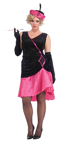 1920s Costumes: Flapper, Great Gatsby, Gangster Girl Forum Roaring 20S Penny Pink Flapper Costume $29.99 AT vintagedancer.com
