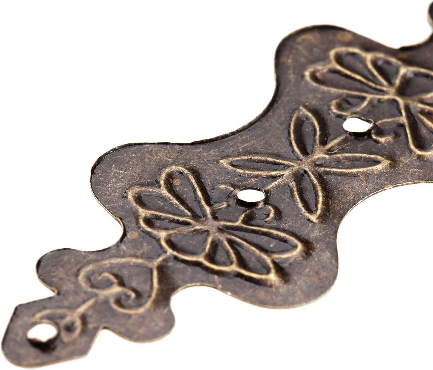 20pcs 56 NO LOGO FMN-Home 20 mm D/écoration dangle Support Antique Jewelry Box en Bois Pied de Jambe dangle Protector Artisanat Meubles Articles de Fer Raccords