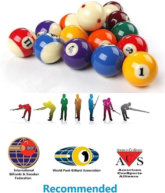Loto AAA - Juego de Bolas de Billar estándar para torneos (tamaño ...
