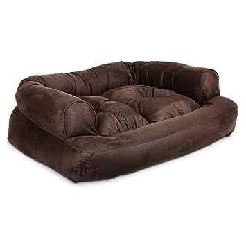 Charmant Snoozer Overstuffed Luxury Pet Sofa, X Large, Hot Fudge