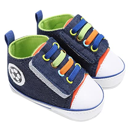 bb2ae88133a35 Amiley Summer Baby Shoes Boy Girl Newborn Crib Soft Sole Shoe Hook & Loop  Sneakers (Inches:5.1