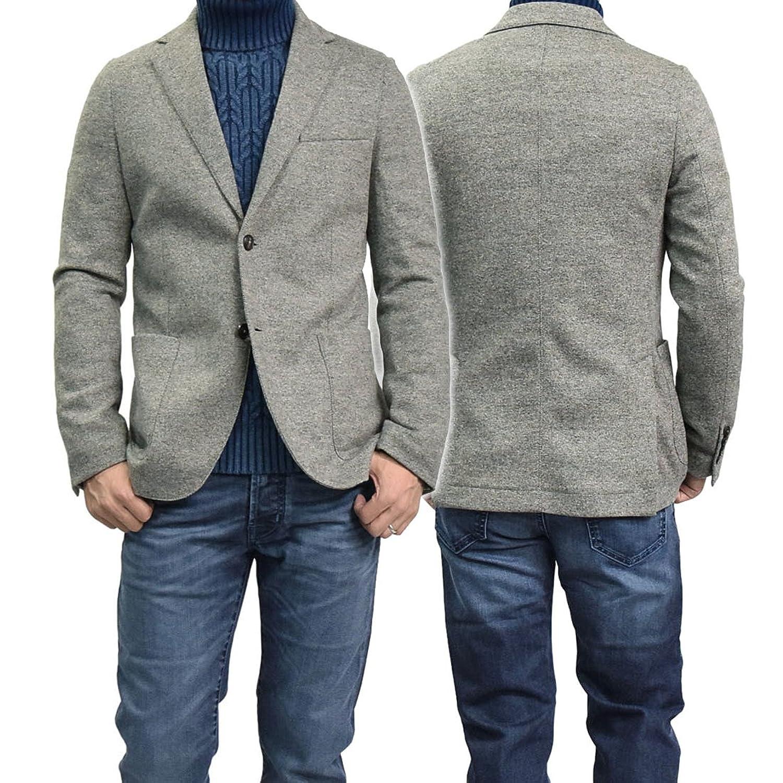 [CIRCOLO1901(チルコロ1901)] メンズジャージー素材シングル2Bジャケット CN1694 グレー [並行輸入品] B077JMSV15   46