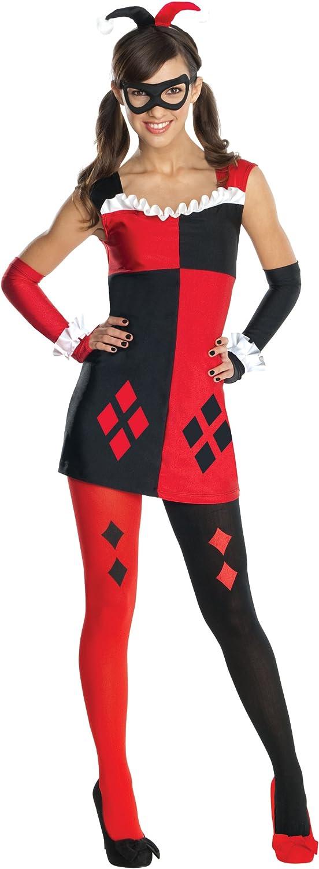 Amazon.com: Disfraz de Harley Quinn preadolescencia de DC ...