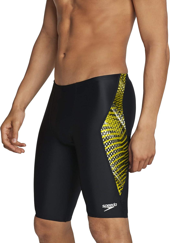Speedo Mens Swimsuit Jammer Powerflex Printed Team Colors Sports ...