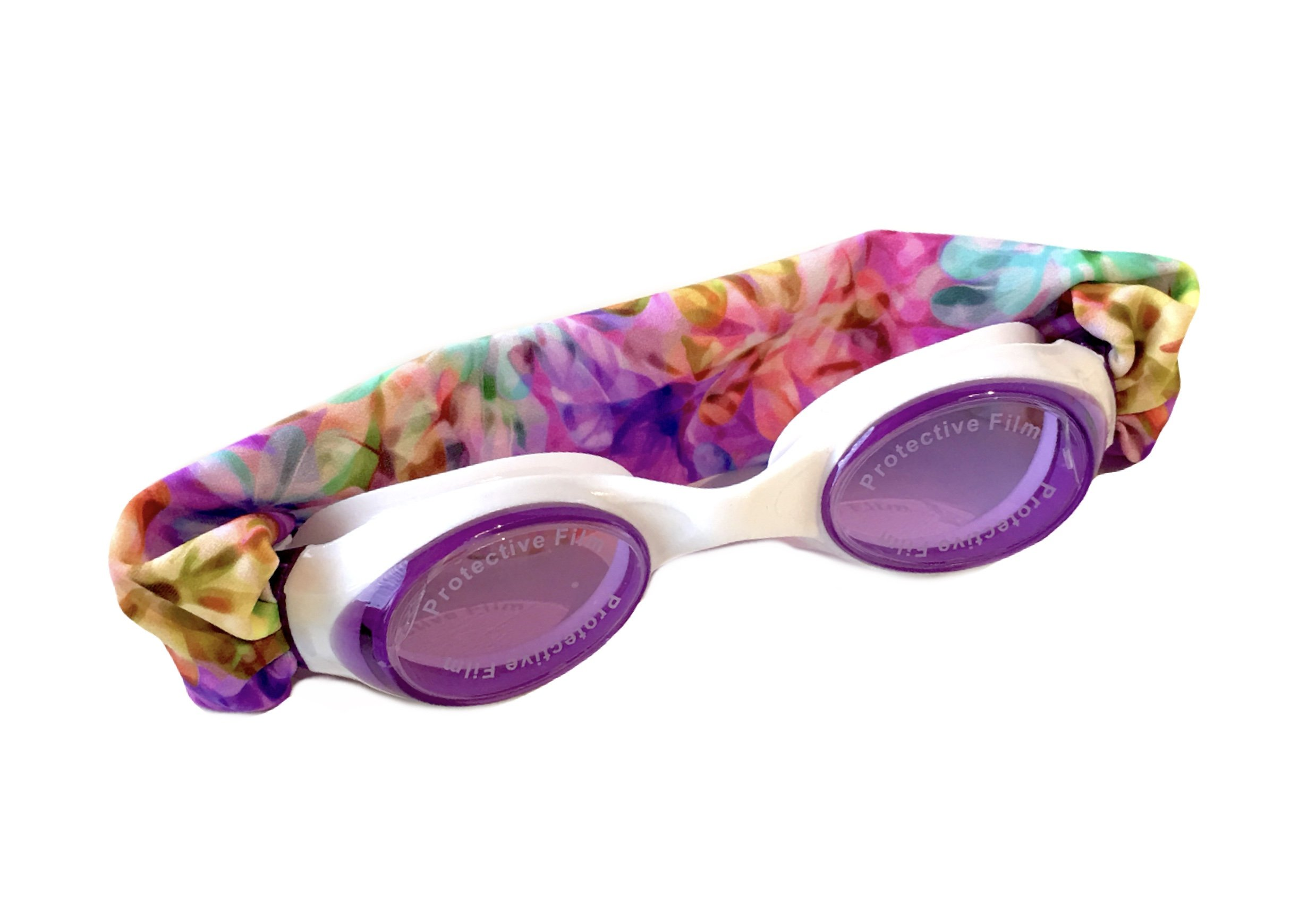 Splash Kaleidoscope Swim Goggles - Fun Fashionable Comfortable - Fits Kids & Adults - Won't Pull Your Hair - Easy to Use - High Visibility Anti-Fog Lenses - Patent Pending