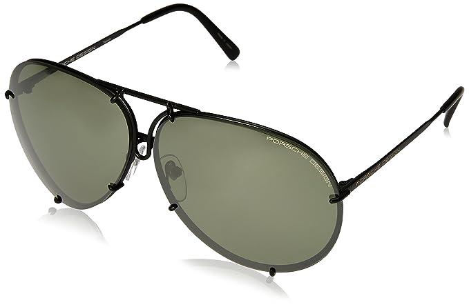 Amazon.com: Porsche Designs Sunglasses P8478 D Black Matte ...