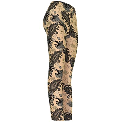 """Perfect Paisley"" Ladies Footless Printed Leggings"